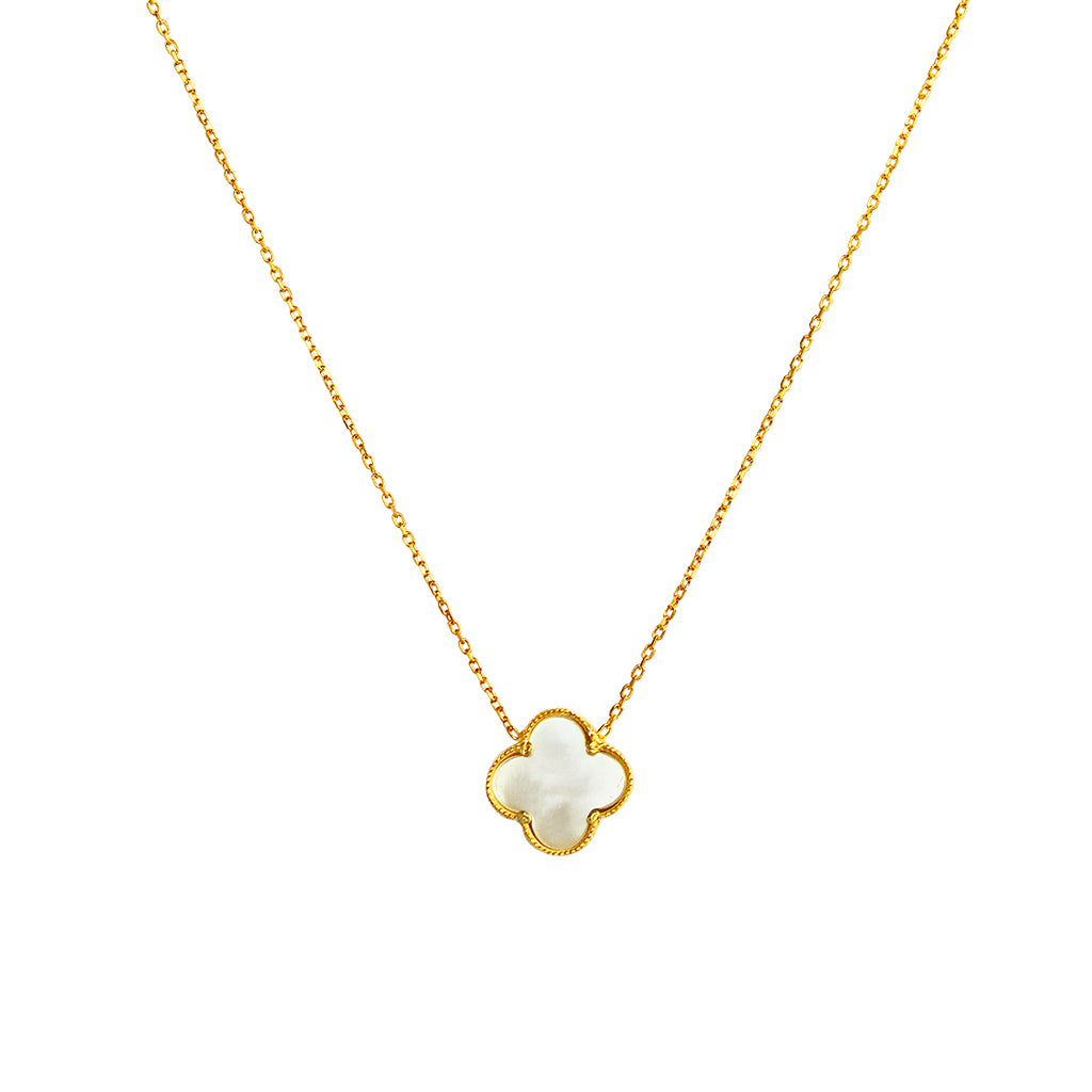 CLOVER GOLD PLATED MOTHER OF PEARL PENDANT