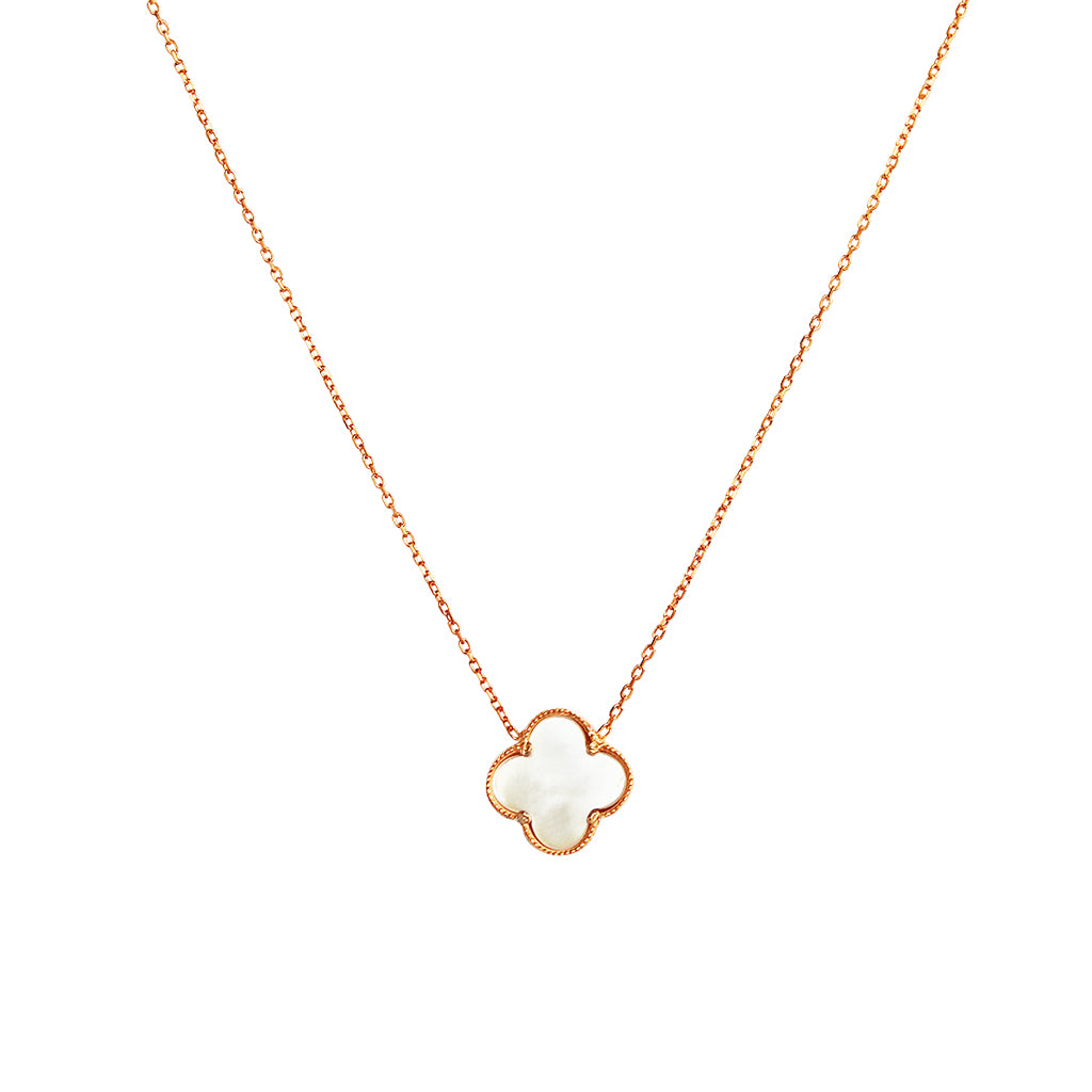 CLOVER ROSE GOLD MOTHER OF PEARL PENDANT