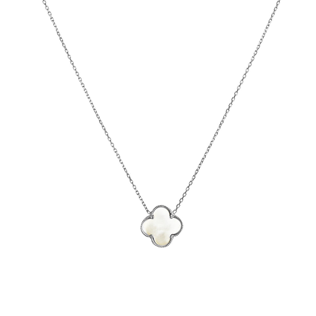 CLOVER STERLING SILVER MOTHER OF PEARL PENDANT