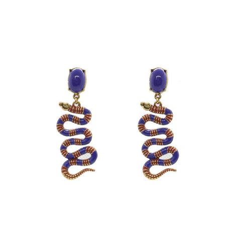 COBRA ANTIQUE GOLD EARRINGS