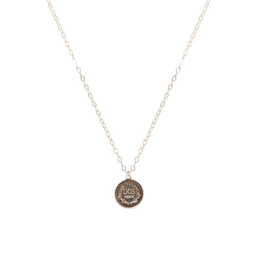 COIN LARGE GOLD FILLED PENDANT