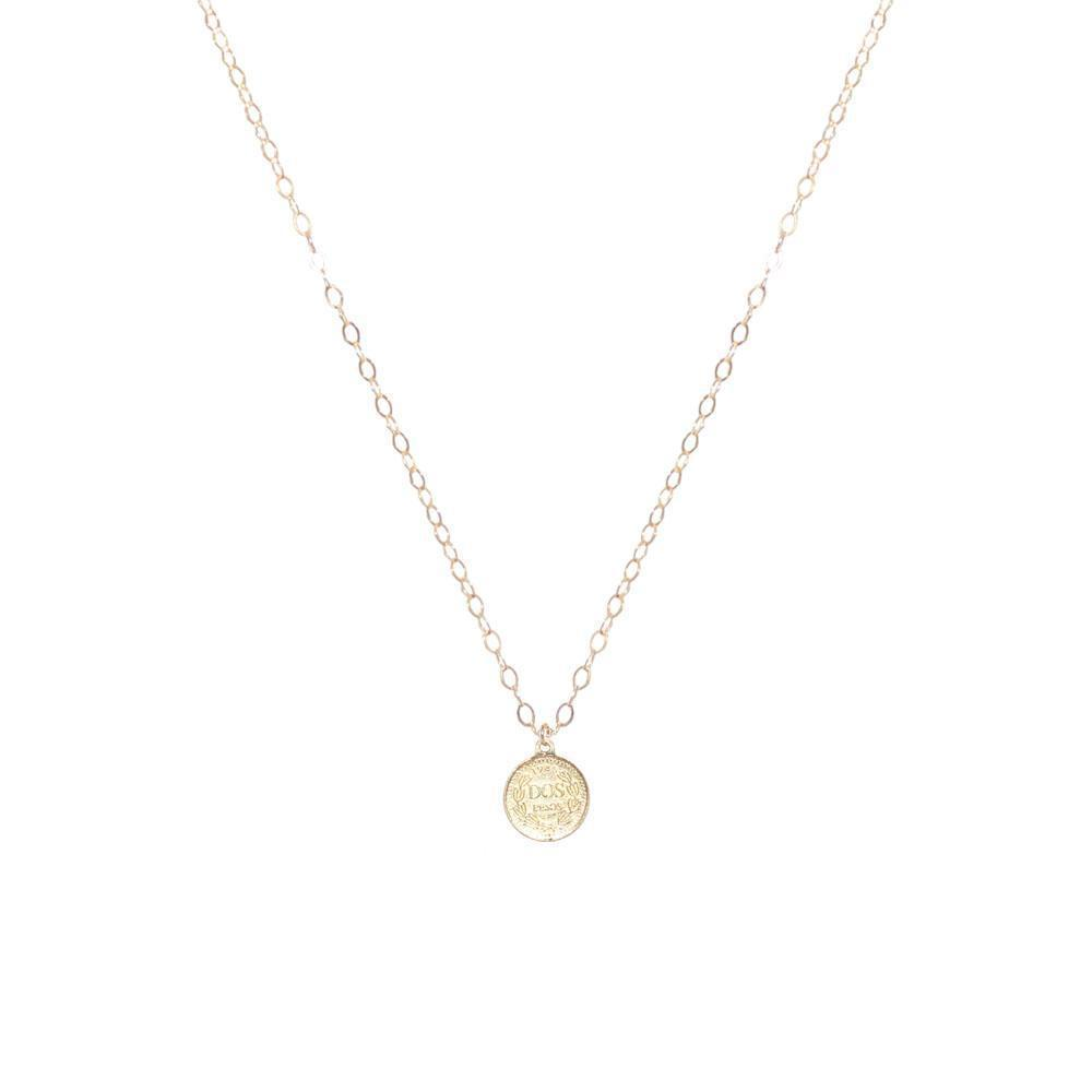 COIN SMALL GOLD FILLED PENDANT-Necklaces-MEZI