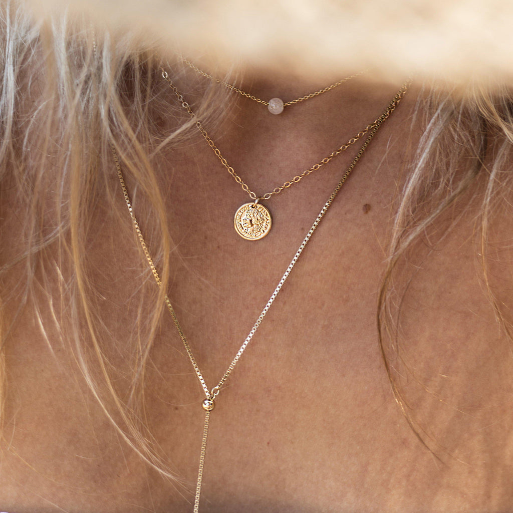 COIN SMALL GOLD FILLED PENDANT