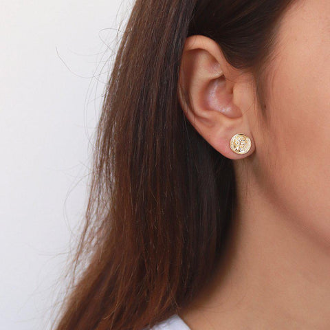 COIN GOLD STUDS