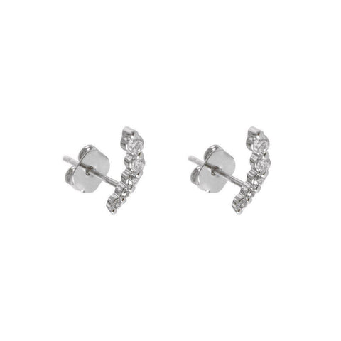 COMMA CRYSTAL SILVER STUDS