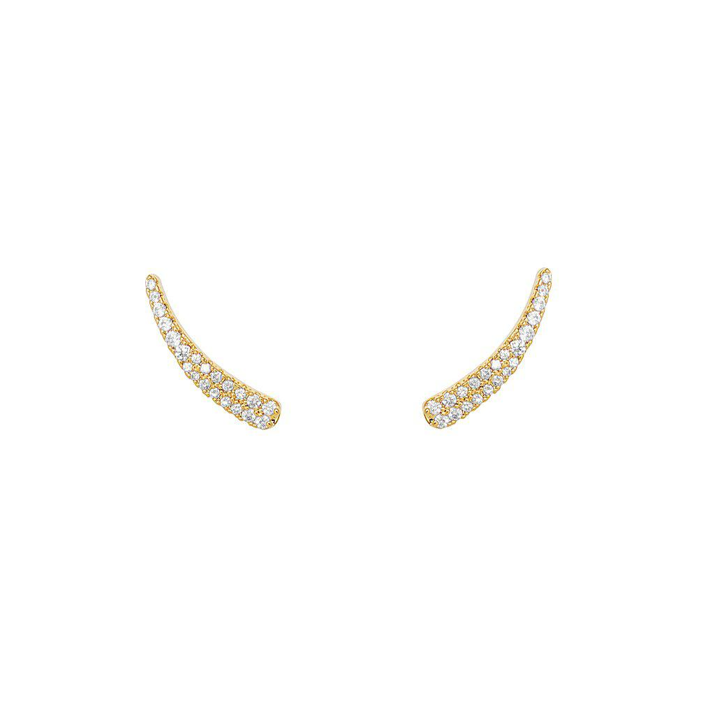 DIAN CRAWLER GOLD CRYSTAL EARRINGS