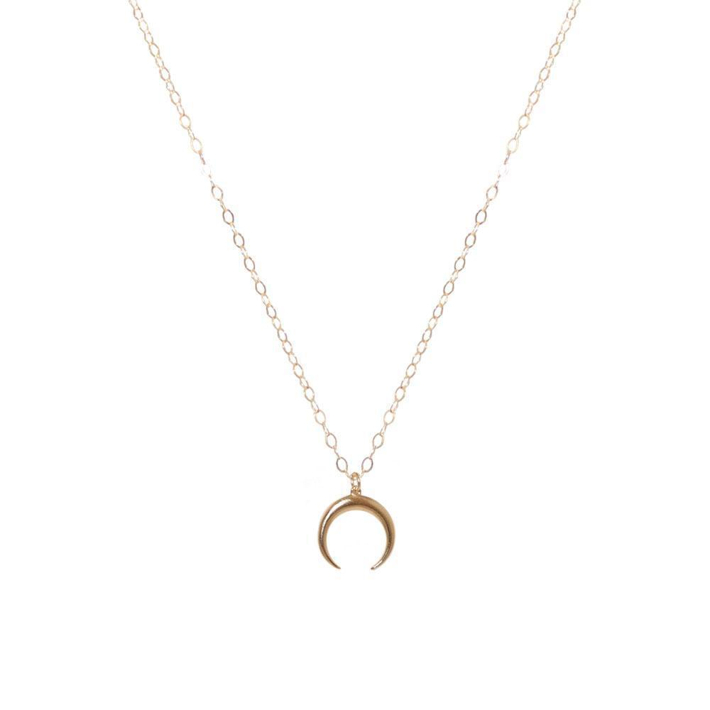 CRESCENT GOLD FILLED PENDANT-Necklaces-MEZI