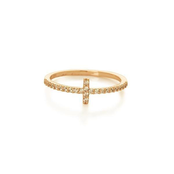 CROSS CRYSTAL GOLD RING