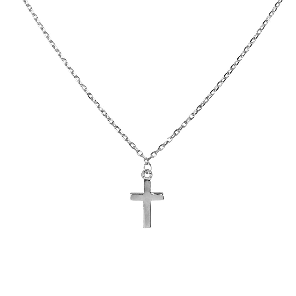 CROSS PLAIN STERLING SILVER NECKLACE