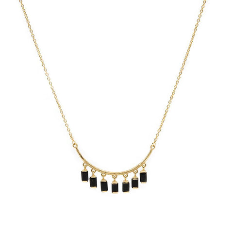 DAKOTA ONYX GOLD NECKLACE