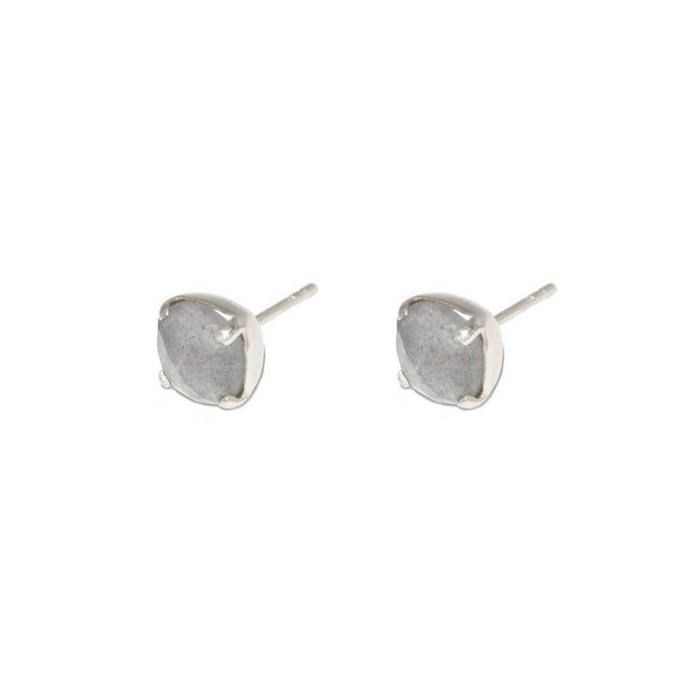DANA LABRADORITE SILVER STUD EARRINGS