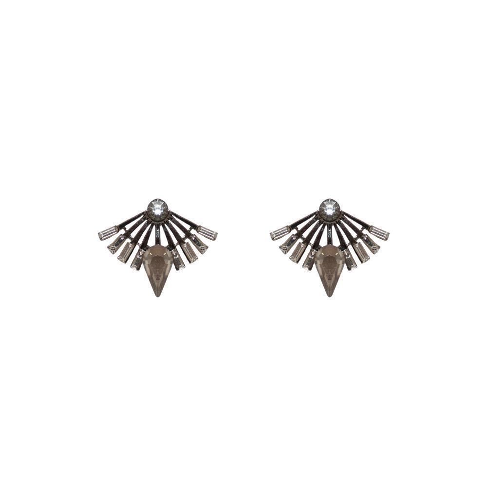 DAVINA GREY CRYSTAL STUD EARRINGS