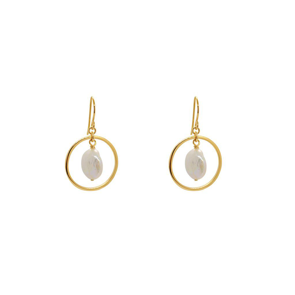DAVIS GOLD PLATED DROP EARRINGS