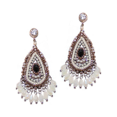 DEA SEMI-PRECIOUS CRYSTAL EARRINGS