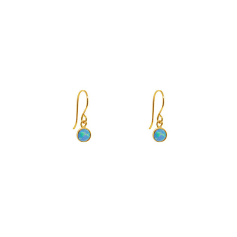 DELTA GOLD BLUE OPALITE HOOK DROP EARRINGS