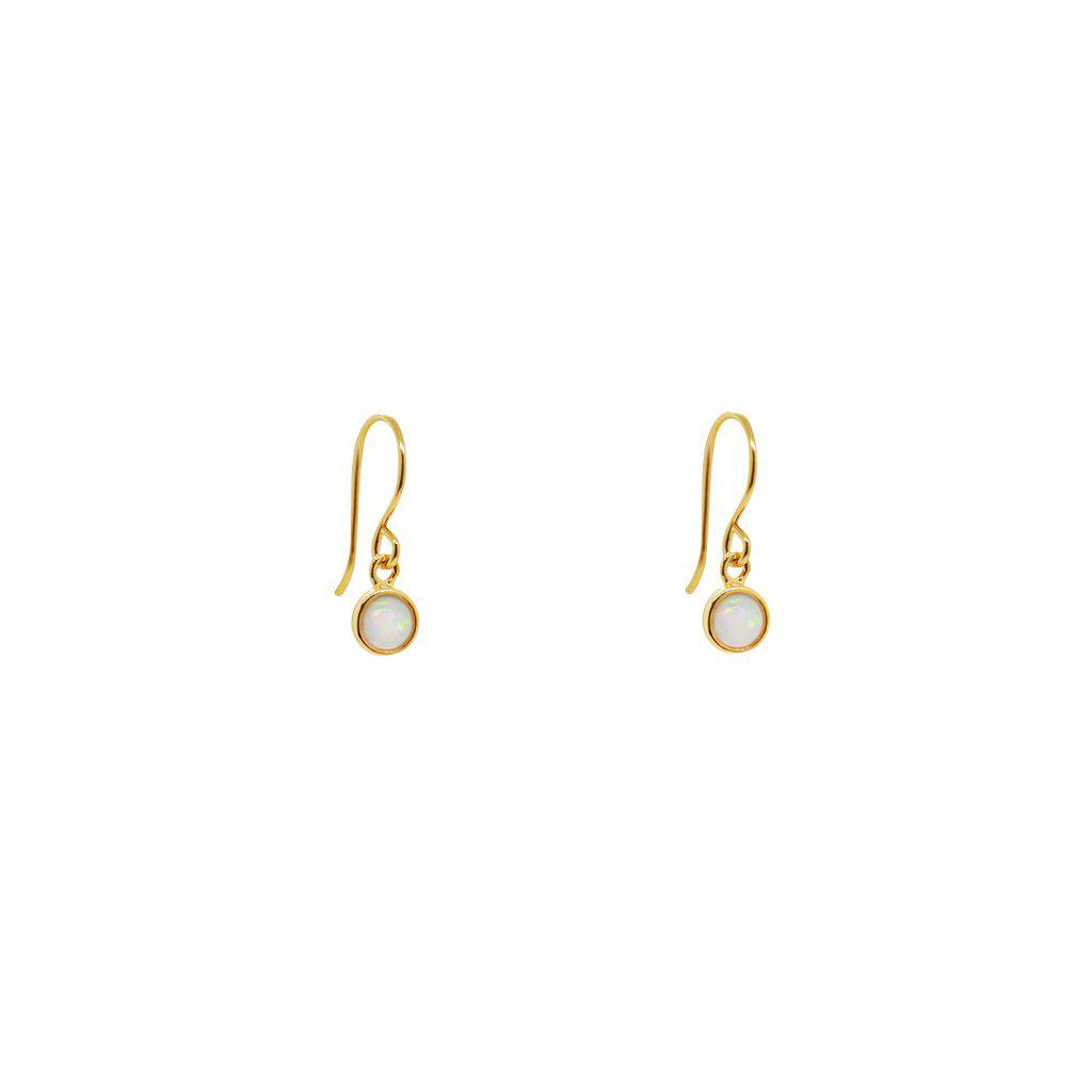 DELTA GOLD WHITE OPALITE HOOK DROP EARRINGS