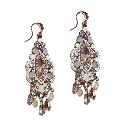DELU SEMI-PRECIOUS CRYSTAL EARRINGS