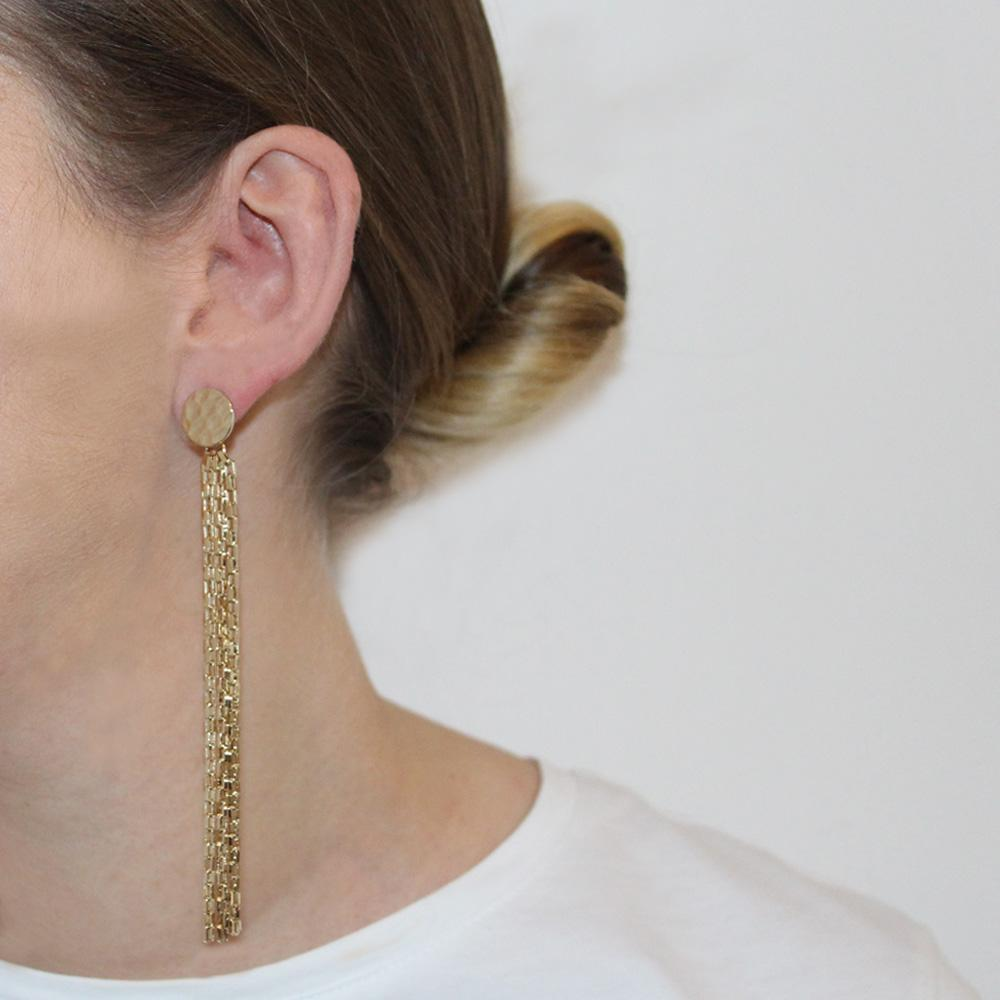 DIARA GOLD CHAIN EARRINGS