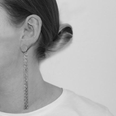 DIARA SILVER CHAIN EARRINGS