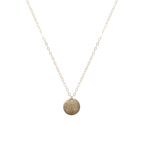 DISC LARGE GOLD FILLED PENDANT-Necklaces-MEZI