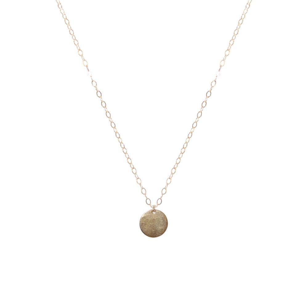 DISC SMALL GOLD FILLED PENDANT-Necklaces-MEZI