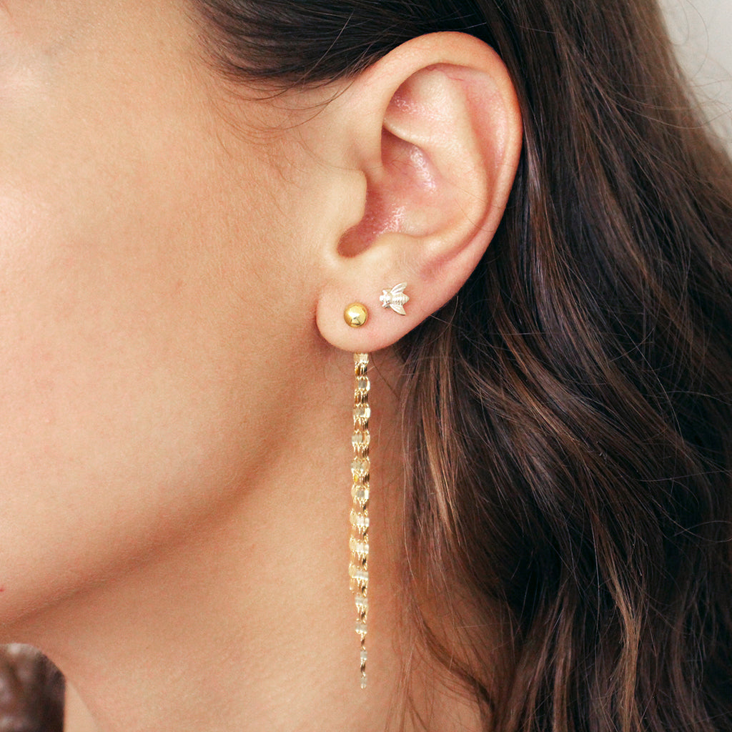 DITA TASSEL CHAIN GOLD EARRINGS