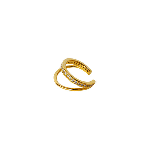 MARGO DOUBLE LOOP CONCH GOLD PLATED CUFF