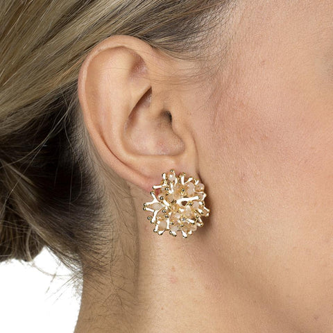 EDA PINK CRYSTAL STUDS-Earrings-MEZI