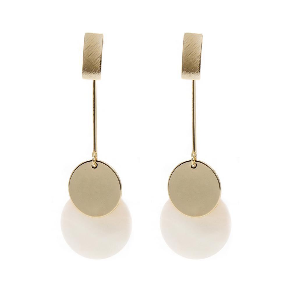 ELAN GOLD MOTHER OF PEARL EARRINGS
