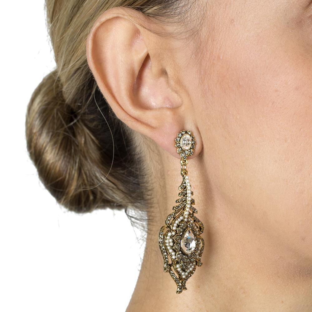 ELAS CRYSTAL & PEARL EARRINGS