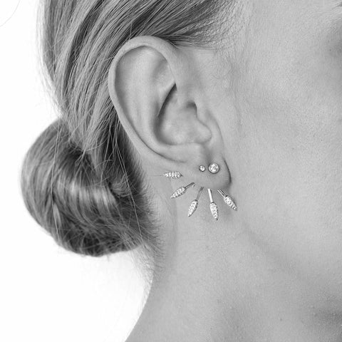 ELLA SILVER CRYSTAL JACKET EARRINGS-Earrings-MEZI