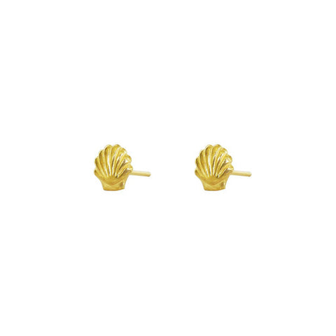 EMARIA SHELL GOLD STUDS
