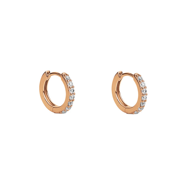 LELA ROSE GOLD CRYSTAL HUGGIES