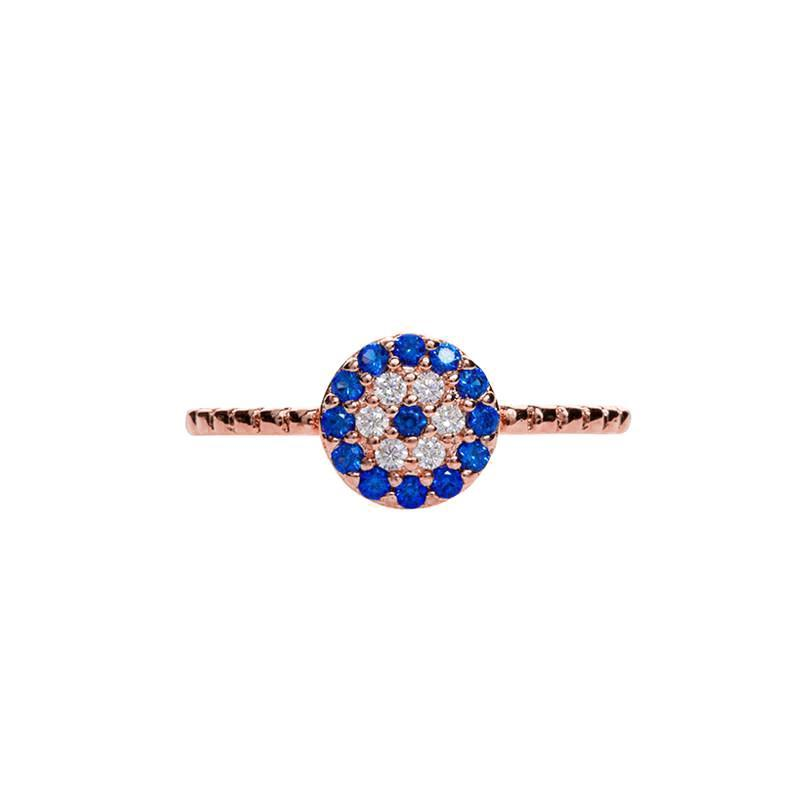 EVIL EYE ROSE GOLD RING