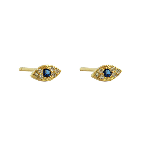 evil eye mini gold stud