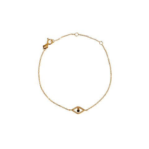 EVIL EYE II GOLD BRACELET