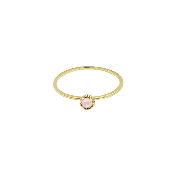 FAER ROSE SEMI-PRECIOUS STONE RING