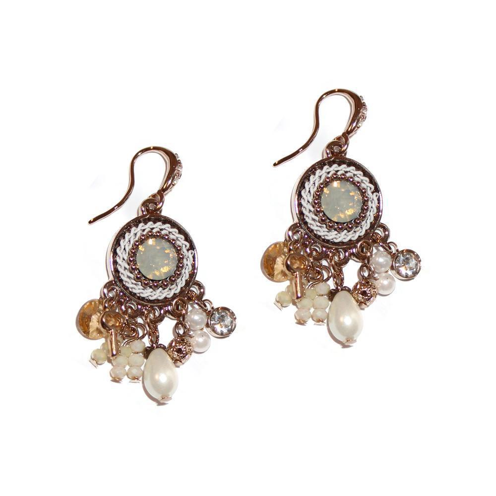 FAIZ SEMI-PRECIOUS CRYSTAL EARRINGS