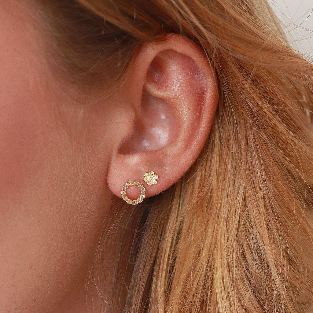 FLORENCE 2MICRON GOLD PLATED STUDS