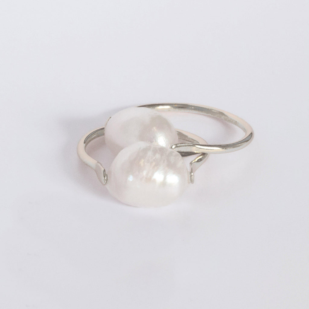 GAEL FRESHWATER PEARL SILVER RING