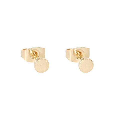 GEELA ROUND 2MICRON GOLD PLATED STUDS