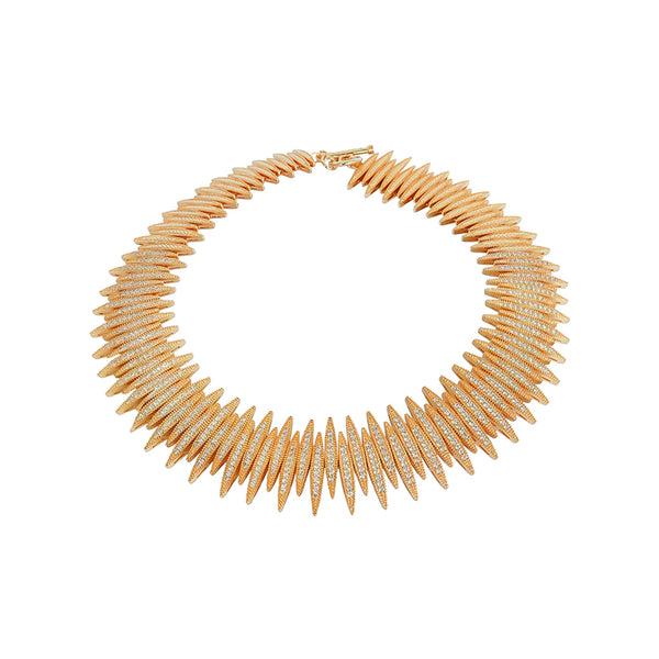 GIGI CRYSTAL GOLD NECKLACE
