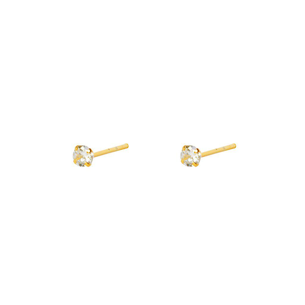 GILA CRYSTAL 2 MICRON GOLD PLATED STUDS