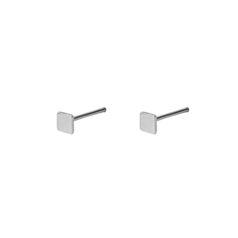 GINA SQUARE STERLING SILVER STUDS