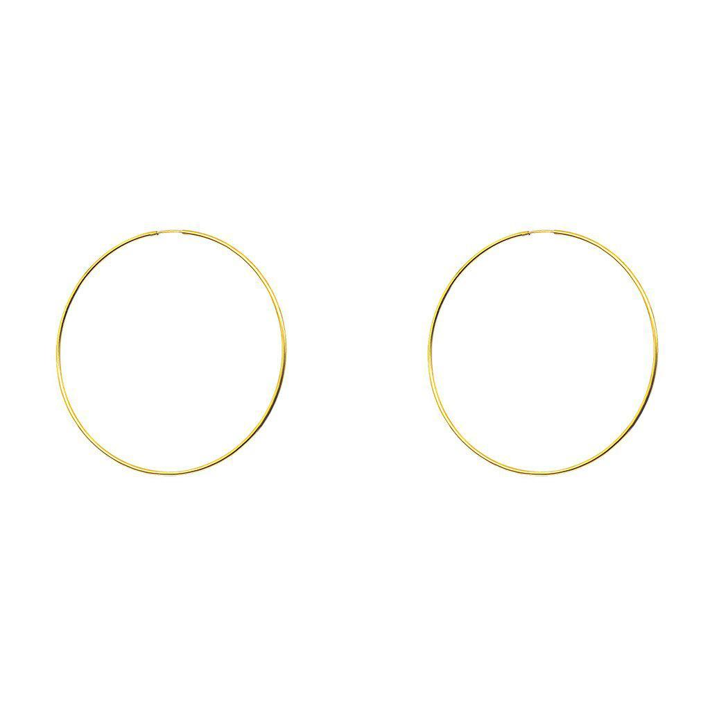 GOLD FILLED HOOP EARRINGS LARGE 7CM
