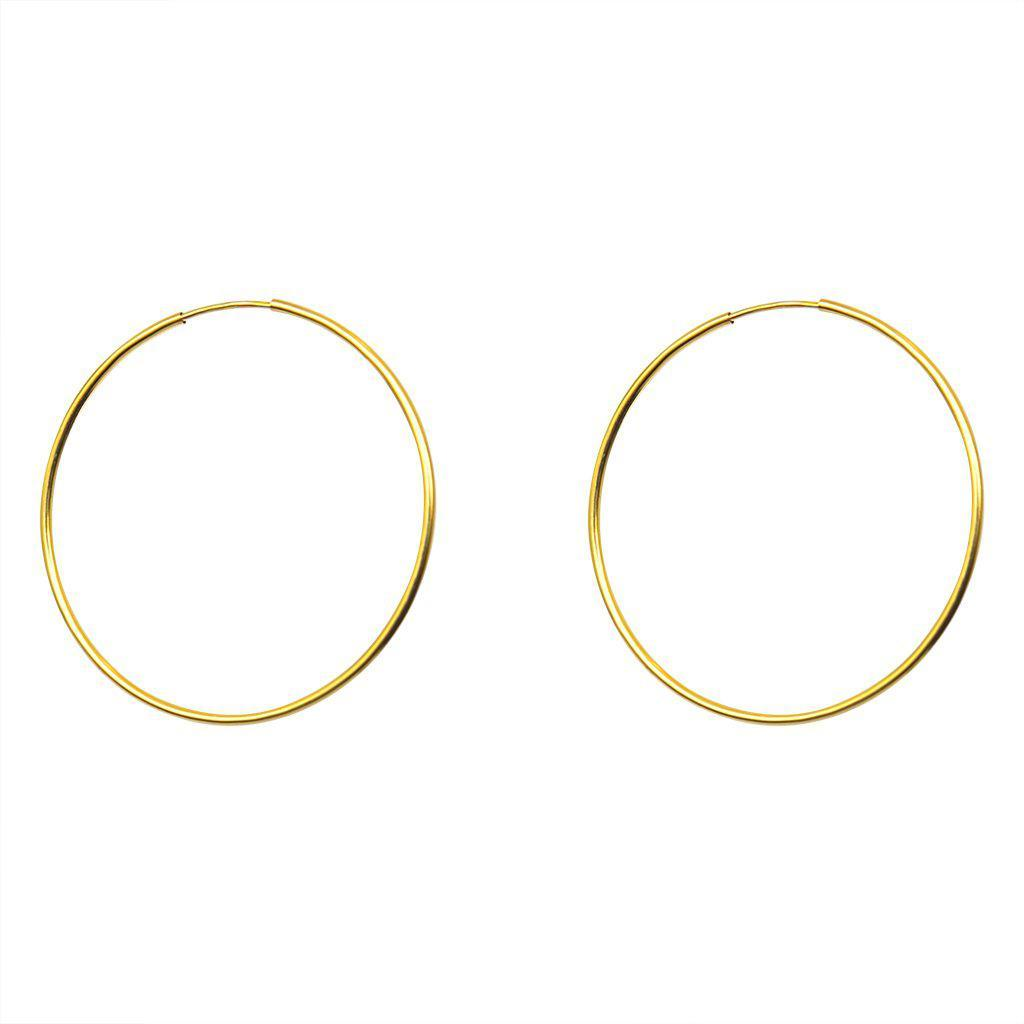 GOLD FILLED HOOP EARRINGS MEDIUM 4CM