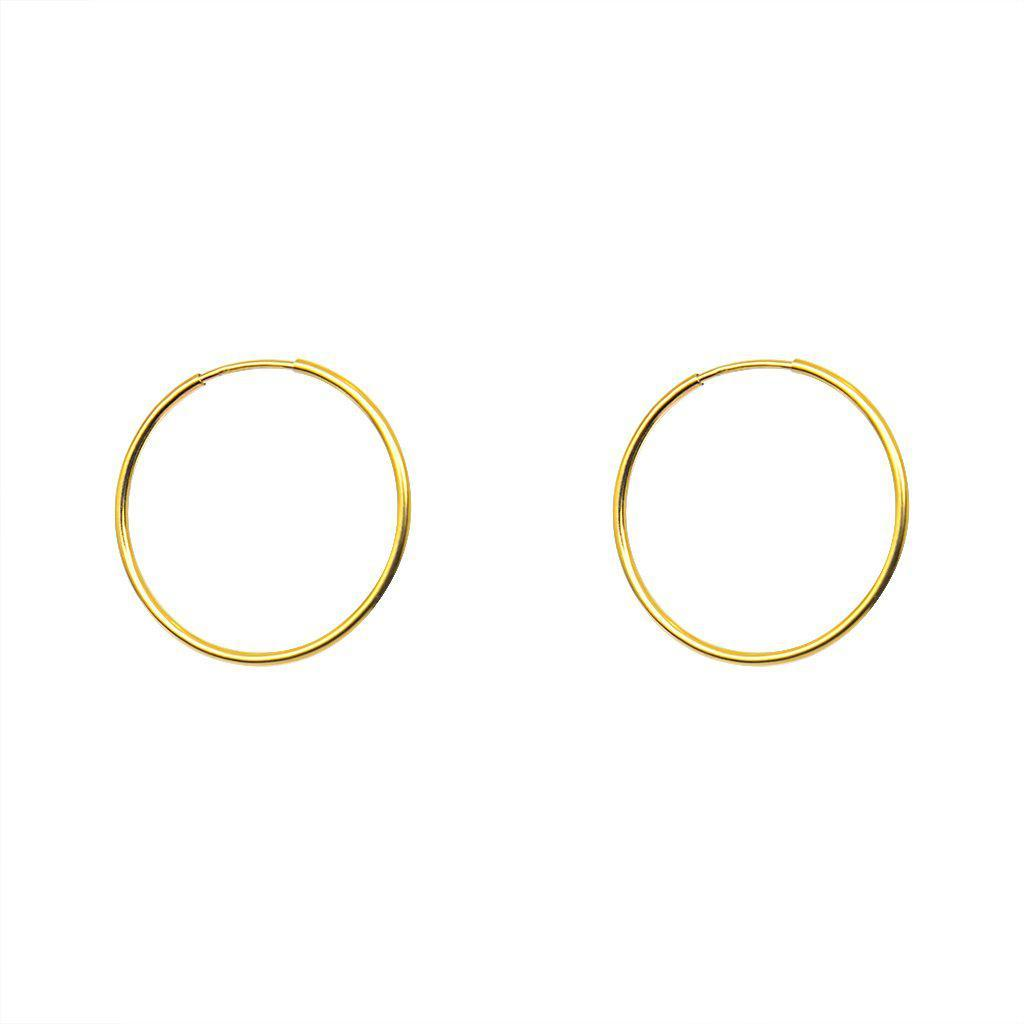 GOLD FILLED HOOP EARRINGS SMALL 3CM