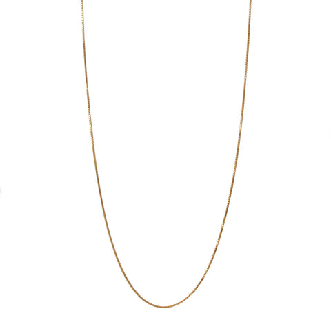 PLAIN GOLD FILLED CHAIN 42 CM