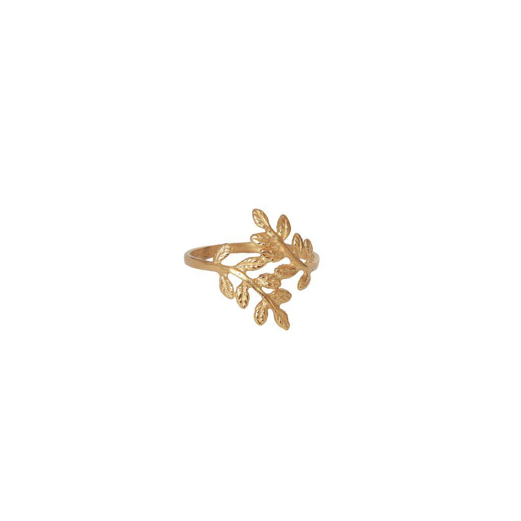 SELAH LEAF GOLD PLATED RING