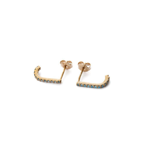 HADLEY BLUE/GOLD CRYSTAL SUSPENDERS-Earrings-MEZI